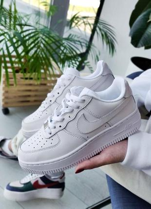 Nike air force white 🔺 унисекс кроссовки найк еир форс белые