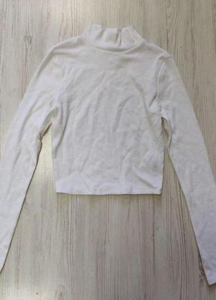 Распродажа до 10 апреля!!!🔥 укороченный белый гольф в рубчик