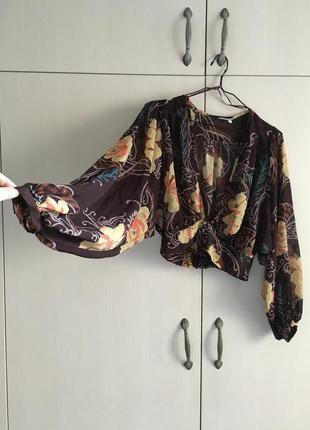 Блуза в стиле бохо с широкими рукавами