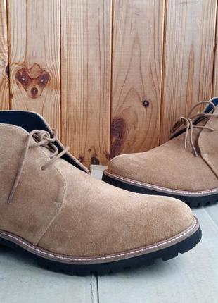 Полностью кожаные легкие стильные итальянские ботинки mark hero