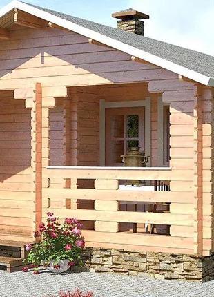 Баня деревянная из профилированного бруса 5х5.5