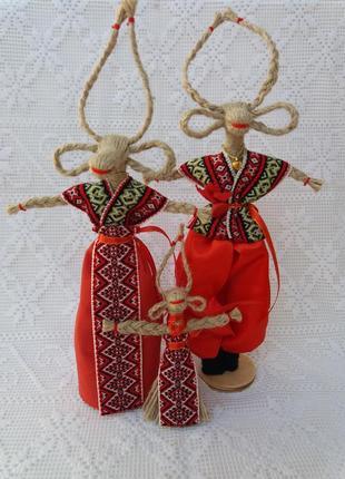 """Handmade. Семейка , подарок-оберег в дом. """"Коза""""- символ благо..."""