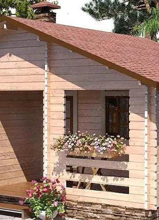 Баня деревянная из профилированного бруса 6х5