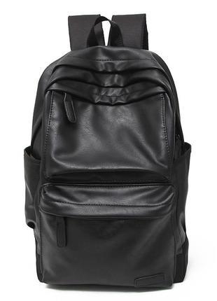 Рюкзак Городской из Искусственной Кожи Черный (EW1811)