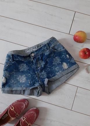 Мега стильные короткие джинсовые шорты _рванные..# 509