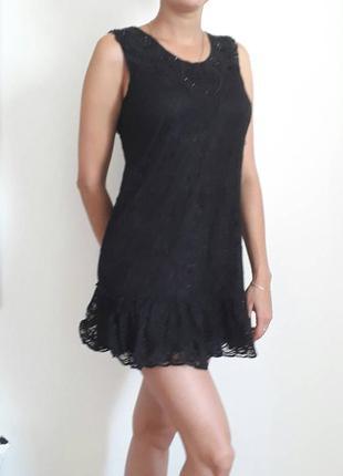 Красивое нарядное гипюровое платье р.44-46