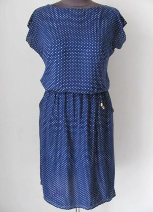 Летнее платье из штапеля на каждый день, на талии резинка, р.4...