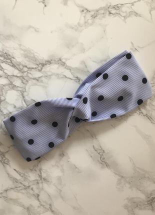 Повязка на голову/тюрбан/headband в полоску/горох