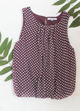 Красивая блузочка в горошек от new look, размер l