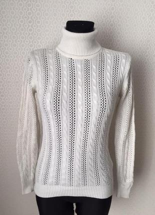 Ажурный свитер в косы от oodji, размер евр 36, укр 42-44