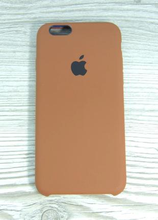 Silicone Case iPhone 6/6s Brown (коричневый)