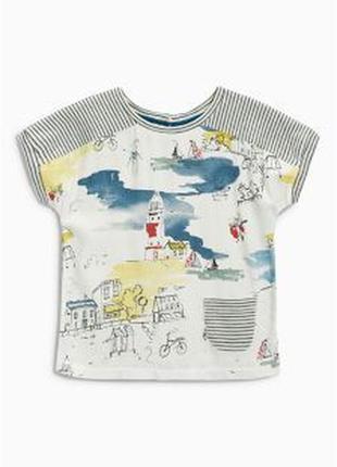 Красивая  футболочка с морской тематикой