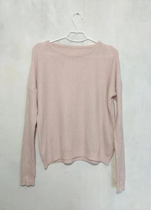 Итальянский , пудровый, мягенький  свитер  oversize