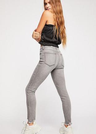 Guess power skinny ultra low супер стильные серые джинсы