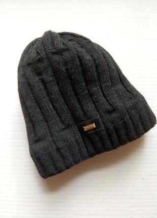 Теплая, зимняя мужская шапка на флисе