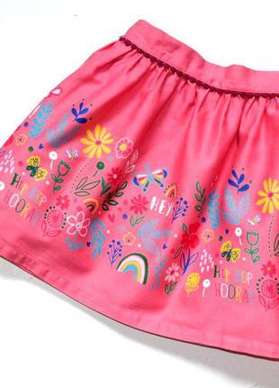 Tu пышная розовая юбка с рисунком. 5-6 лет. рост 110-116 см