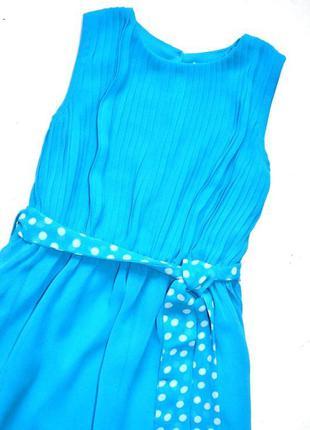 Matalan. шифоновое небесно голубое платье с плиссированным лиф...