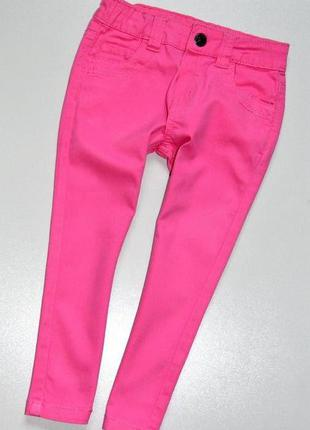Denim co. розовые летние джинсы. 2-3 года. рост 98 см