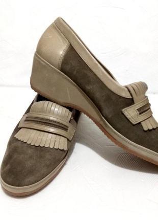 Кожаные туфли vero cuoio / made in italy