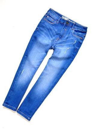 Matalan. классные джинсы скинни с потёртостями на парня 8 лет....