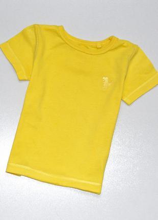 Next. желтая хлопковая футболка на малыша с вышитым динозаврик...