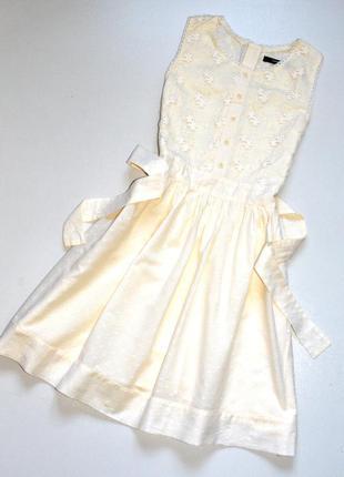 George. нарядное хлопковое платье цвета айвори. 11-12 лет. рос...