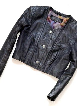 Кожаная куртка,куртка бомбер,укороченная