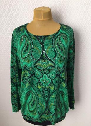 Мегаяркий джемпер зеленого цвета от mona, размер нем 46, укр 5...