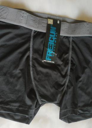 Новые черные эластичные мужские трусики боксерки  с