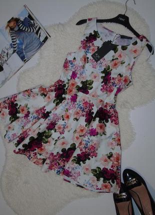 Новое платье в цветочный принт 12 размера ax paris