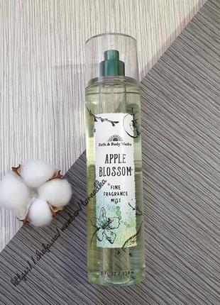 Спрей (мист) для тела bath and body works - apple blossom #роз...
