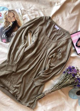 Трендовое платье с люрексом и объемными рукавами от new look