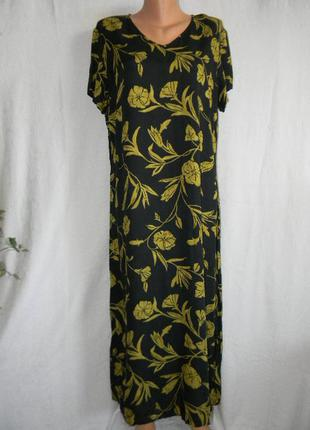 Натуральное платье большого размера