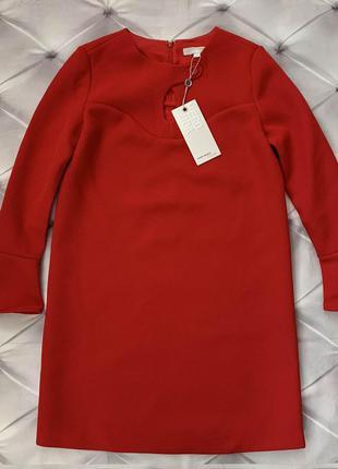 Vero moda платье базовое красное
