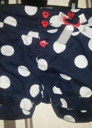 Шикарные шорты для девочки (3-5 лет)