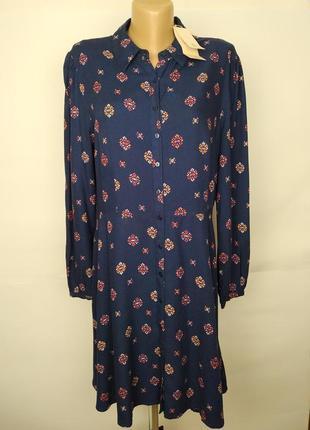 Платье новое вискозное красивое в принт tu uk 14/42/l