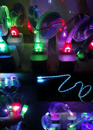 Micro usb кабелі, які світяться, є різні кольори, нові