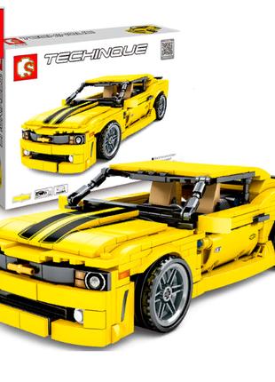 Конструктор инерционный Techinque Sembo Block Спорткар Camaro