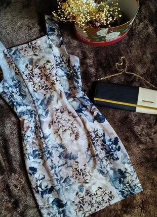 Стильное прямое платье миди с цветочным принтом🌺 от h&m
