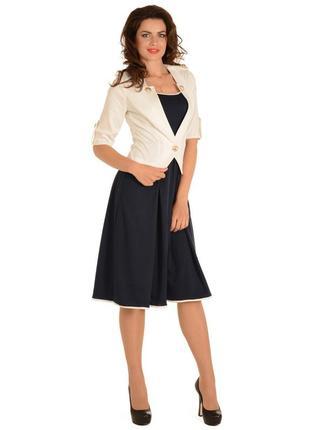 Костюм (платье и жакет), размер 46