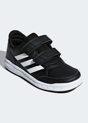 Кроссовки adidas р. 32 оригинал, на липучках,черные,детские,кеды