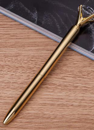 Ручка подарочная золотистая Cristal Кристалл 2396-28
