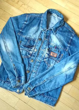 Джинсовая куртка на пуговицах armani jeans, м size, made in italy