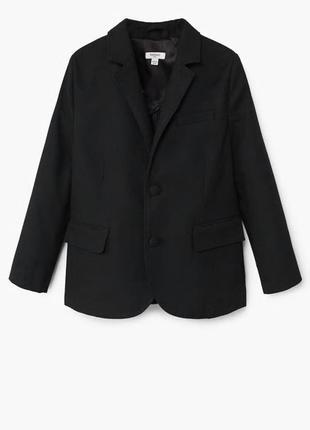 Пиджак mango р. 5-7 лет, оригинал черный школьный,школьная фор...