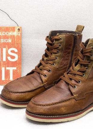 Ботинки осень весна  am  верх кожа размер 44 стелька 28 см