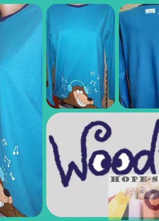 Трикотажная домашняя футболка с длинным рукавом,рубашка для сн...