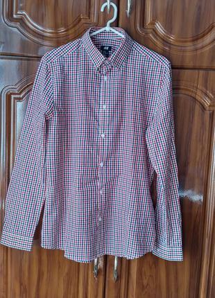 Стильная мужская рубашка в клетку h&m
