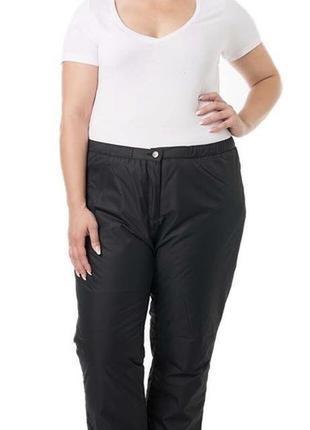Черные спортивные штаны большого размера