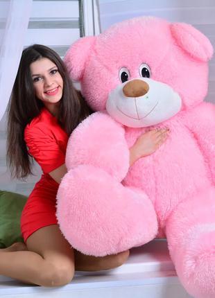 """Мягкая игрушка, плюшевый Мишка ДЕН (200 см), """"Розовый"""""""