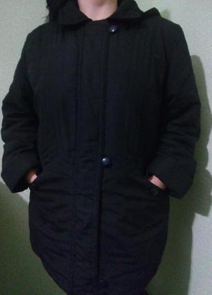 Демисезонная куртка с капюшоном большого размера